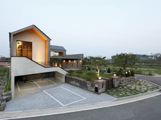 삼마당 집(Three yard house) 모던스타일 주택 by 명작건축사사무소 모던