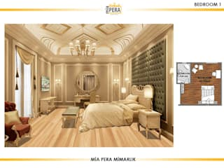 Classic style bedroom by Miapera MİMARLIK Classic