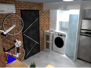 Remodelacion de un departamento :  de estilo industrial por Cubicointerior, Industrial
