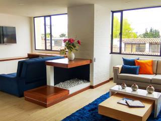 Living room by EVA Arquitectos SAS,