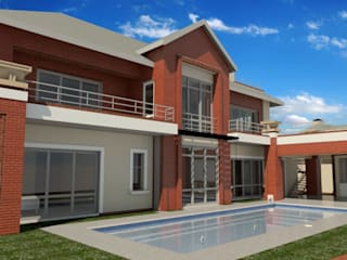 Family Home in Waterkloof, Pretoria. :  Houses by Nuclei Lifestyle Design,