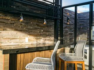 Balcon, Veranda & Terrasse originaux par AU Lab Éclectique