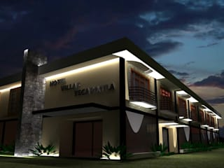 Jardin de eventos Villas Yecapixtla Hoteles de estilo colonial de Neofusion S.A. de C.V. Colonial