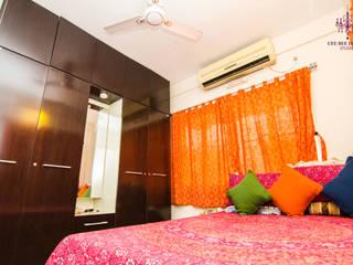 Bedroom Interior Design:  Small bedroom by Cee Bee Design Studio
