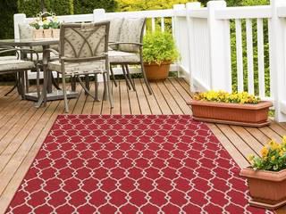Tappeti Indoor/Outdoor: colori e fantasie Vitaminic Webtappeti Balcone, Veranda & TerrazzoAccessori & Decorazioni Sintetico Rosso