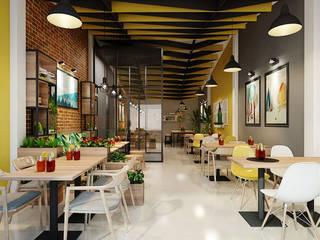 thiết kế nội thất nhà hàng:  Phòng ăn by công ty thiết kế nhà hàng & quán cafe Hiện đại CEEB