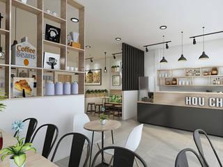 thiết kế quán trà sữa:   by công ty thiết kế nhà hàng & quán cafe Hiện đại CEEB