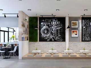 thội thất trà sữa đẹp:   by công ty thiết kế nhà hàng & quán cafe Hiện đại CEEB