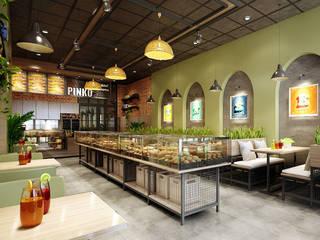 thiết kế tiệm bánh:  Phòng ăn by công ty thiết kế nhà hàng & quán cafe Hiện đại CEEB
