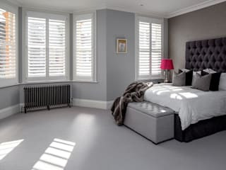 A Classic Contemporary Home in Clapham South od Plantation Shutters Ltd Nowoczesny