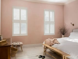 Minimal on Content But Huge on Style Plantation Shutters Ltd Cuartos pequeños Tablero DM Blanco