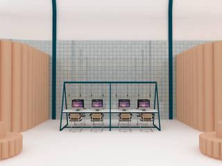 CARMITA DESIGN diseño de interiores en Madrid Офисы и магазины в эклектичном стиле Плитка Розовый