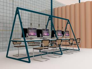 Proyecto de interiorismo para un espacio de coworking en Barcelona Oficinas y tiendas de estilo ecléctico de CARMITA DESIGN diseño de interiores en Madrid Ecléctico