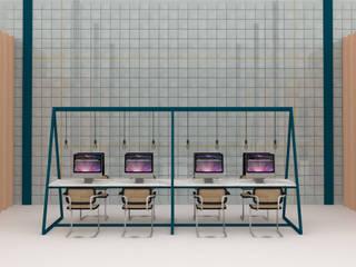 CARMITA DESIGN diseño de interiores en Madrid Офисы и магазины в скандинавском стиле Плитка Синий