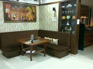 3 BHK Bhavdan Modern living room by Peak Interior Modern