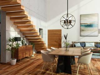 Citlali Villarreal Interiorismo & Diseño Ruang Makan Gaya Skandinavia