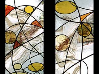 Vitrais: Portas secundárias  por Atelier Paulo Nogueira Lda,
