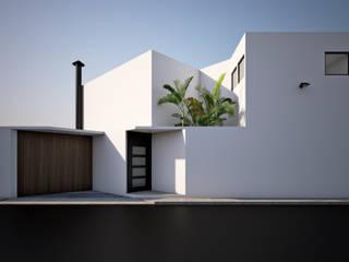 CASA 45° Casas modernas de RL3 ARQUITECTOS S.A. DE C.V. Moderno