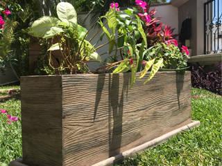 Maceta Tilo imitación madera de FIVICLASS Rústico