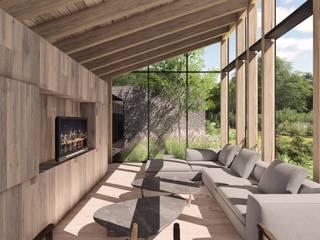CASA EN AVANDARO Salones modernos de C_arquitectos Moderno