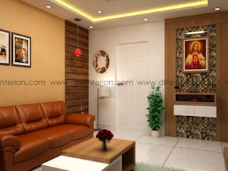 Living Room Interiors:   by DLIFE Home Interiors,
