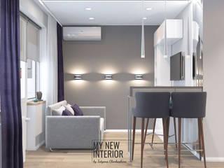 Дизайн квартиры студии 21 кв.м. Гостиная в стиле минимализм от Татьяна Черкашина   My New Interior Минимализм