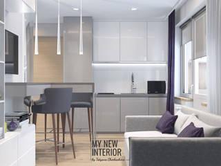 Дизайн квартиры студии 21 кв.м. Кухня в стиле минимализм от Татьяна Черкашина   My New Interior Минимализм