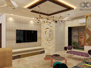 Residential Apartment at Metrozone ,Chennai: eclectic  by Space Polygon,Eclectic