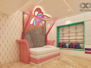 Daughter's bedroom:  Bedroom by Space Polygon