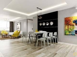 nội thất căn hộ hiện đại CEEB Sala da pranzo moderna