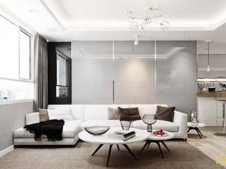 nội thất căn hộ hiện đại CEEB Salones de estilo moderno