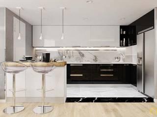 nội thất căn hộ hiện đại CEEB Cocinas de estilo moderno