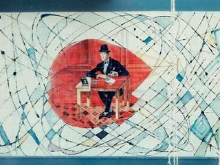 Fernando Pessoa nuclear:   por Azulejaria Artística Rui Campos,