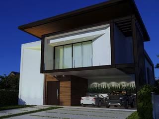 Projeto Casa Moderna FC - fachada Moderna: Condomínios  por Gelker Ribeiro Arquitetura | Arquiteto Rio de Janeiro