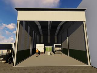 Pavilhão Metálico com Iluminação natural por 3D Arquitetura Industrial