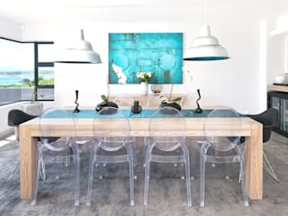 New Build Guest House de Kelders:  Dining room by Overberg Interiors
