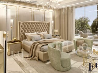 Luxury master bedrooms Eclectic style bedroom by Fancy House Design Eclectic