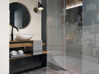 "PROJECT "" MOSCOW CITY"": Ванные комнаты в . Автор – CHERNOVA_PRODESIGN,"