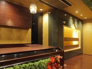 グリーン&ゴールド designista-s (デザイニスタ エス) オフィススペース&店 木 アンバー/ゴールド
