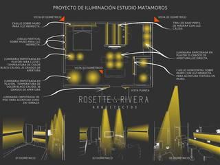 Proyecto de Iluminación Estudio Matamoros de Arquitectos Rosette Rivera