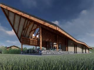 FRANCO CACERES / Arquitectos & Asociados Rustykalny ogród