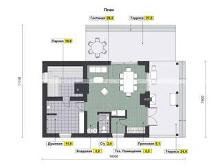 Баня AV326:  в . Автор – Архитектурная студия 'АВТОР'