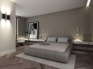 Спальни в . Автор – Mariska Jagt Interior Design, Модерн