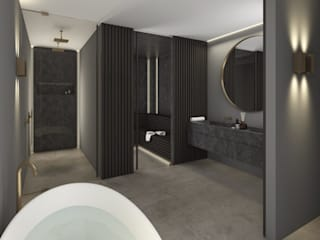 Ванные комнаты в . Автор – Mariska Jagt Interior Design, Модерн