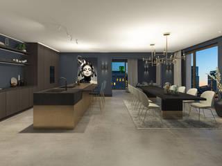 Modern dining room by Studio Mariska Jagt Modern
