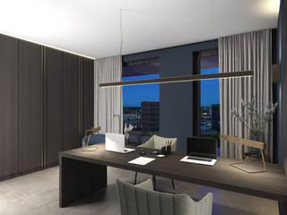 Royal Penthouse:  Studeerkamer/kantoor door Mariska Jagt Interior Design