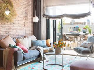 Xmas Arquitectura e Interiorismo para reformas y nueva construcción en Barcelona Salon moderne Briques Multicolore