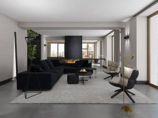 Maisonette:  Woonkamer door Mariska Jagt Interior Design