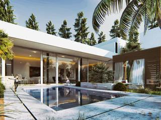 Mẫu biệt thự hồ bơi đẹp mắt nhất hiện nay:   by TNHH xây dựng và thiết kế nội thất AN PHÚ CONs 0911.120.739