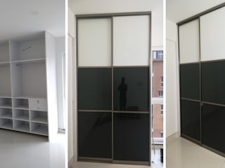 Wardrobe :   by Square Up Construction & Interiors